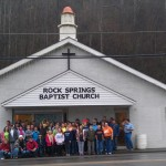 Rock Springs Baptist Church transformation - complete & church group
