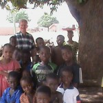 Africa Dean With Children After Service