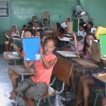 Honduras Children Getting Notebooks