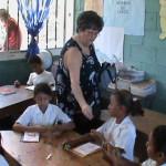 Honduras Children Getting Pencils