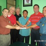 Presenting Bible To Police Chief In Philippines