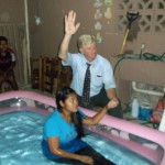 Dean Baptizing In Panama