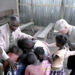 Haiti Pastor Destine And Dean Leading Children To Lord