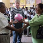 Presenting Soccer Ball In School